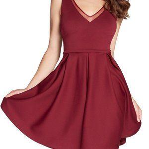 NWT Alyce Kalani Hilliker Burgundy Dress POCKETS